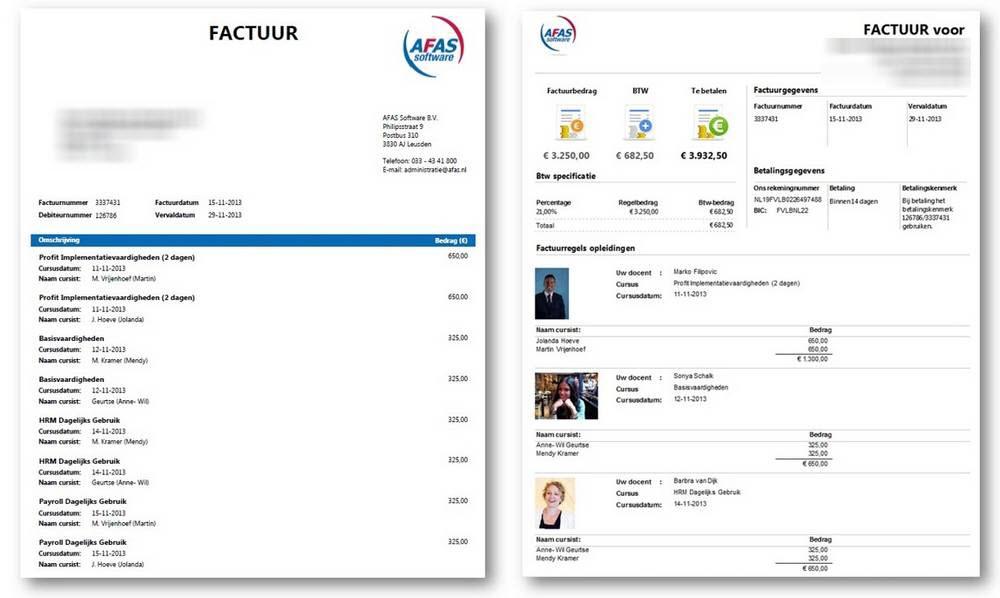 factuur belgie AFAS innoveert de factuur in België met de Factuurwijzer   AFAS